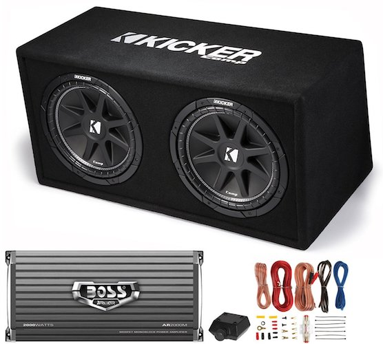 Best Car Subwoofer Amplifier: 6. Kicker DC122 Dual 12 600w Car Audio Subwoofer