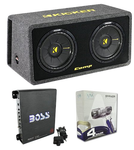 "Best Car Subwoofer Amplifier: 3. Kicker 40DCWS122 12"" 1200W Car Audio Subwoofer"