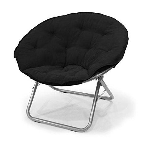 Best Bean Bag Chairs: 4. Urban Shop Microsuede Saucer Chair, Black
