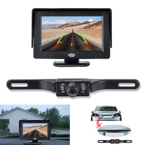 4. Chuanganzhuo License plate Camera for cars: Best Car Backup Camera