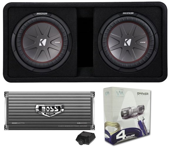 Best Car Subwoofer Amplifier: 7. Kicker 43DCWR122 12 2000W Car Subwoofer