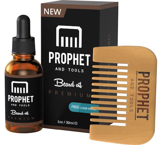 6: Prophet and Tools Beard Oil and Beard Comb Kit!