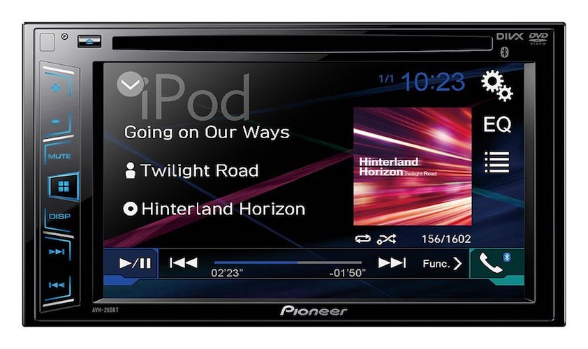 Best Touch Screen Car Stereo Radio: 2. Pioneer AVH-280BT In-Dash DVD Receiver with