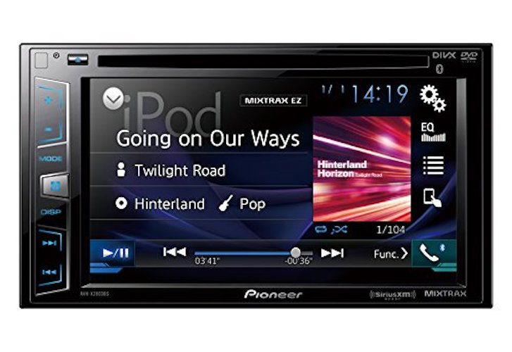 Best Touch Screen Car Stereo Radios: 1. Pioneer AVH-X2800BS In-Dash DVD Receiver, Bluetooth, Sirius XM-Ready