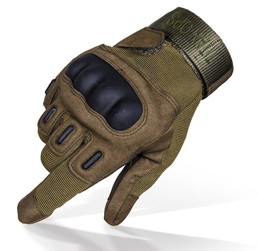 Best Tactical Gloves: 4.TitanOPS Full Finger And Hard Finger Knuckle Gloves