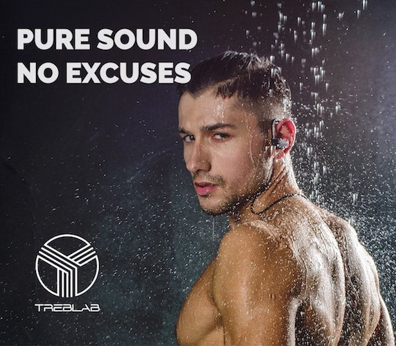 Best Earbuds under 50: 7.TREBLAB XR500 Bluetooth Headphones, Best Noise Cancelling Wireless Earbuds, Waterproof Sports Running Earphones, Secure-Fit Headset w/ Mic