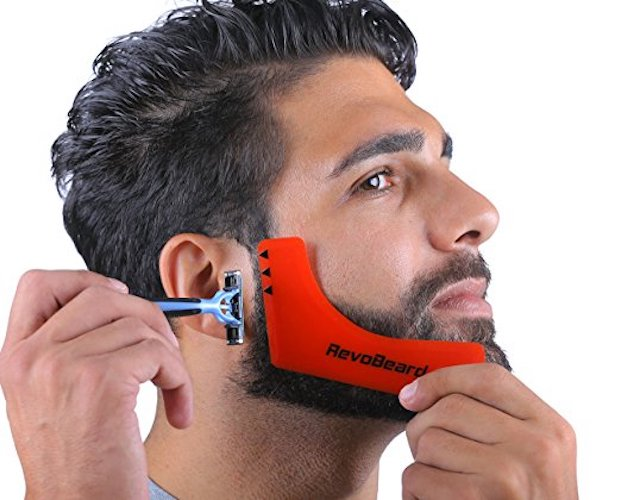 7: RevoBeard Beard Styling Template/Stencil for Men - Lightweight and Flexible - One Size Fits All - Curve Cut, Step Cut, Neckline & Goatee Beard Shaping Tool