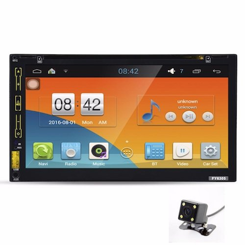 4. Morrivoe 7''HD Bluetooth Touch Screen Car GPS Stereo Radio Android 5.1 Stereo With Rear Parking Camera, Car DVD PC Player, GPS Navigation, In Dash Navigation Head unit Video Player