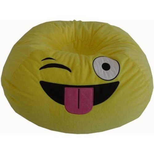 Best Bean Bag Chairs: 7. Versatile,Upbeat Durable Easy Care Emoji Bean Bag