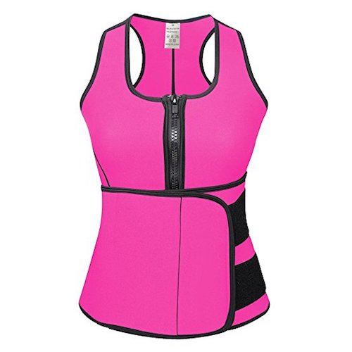 5. DODOING Neoprene Sauna Vest With Zipper Adjustable Tank Top Vest Waist Trainer