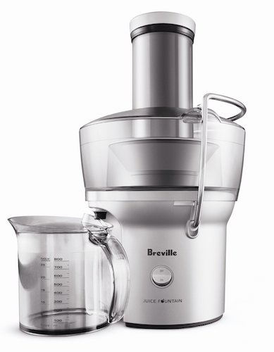 1. Breville BJE200XL Compact Juice Fountain 700-watt juice extractor