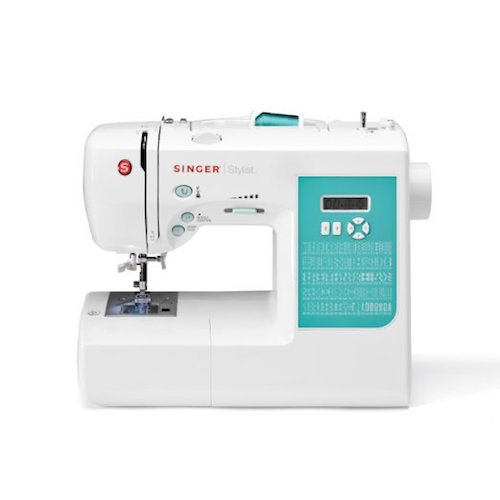 4. Singer 7258 100-Stitch Computerized Sewing Machine With DVD,10 Presser Feet And Metal Frame