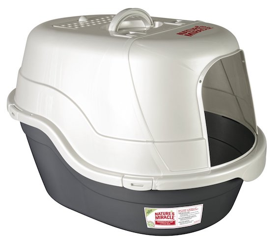 8. Nature's Miracle Oval Hooded Litter Box