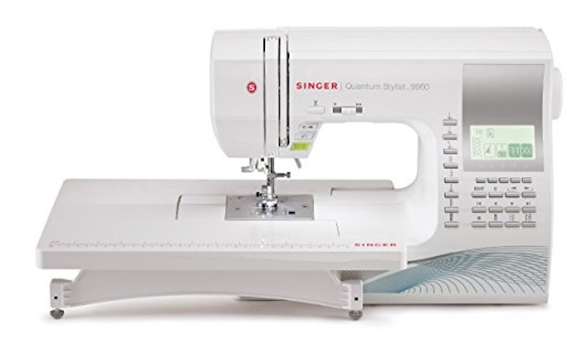 3. Singer 9960 Quantum Stylist 600 Stitch Computerized Sewing Machine With Extension Table