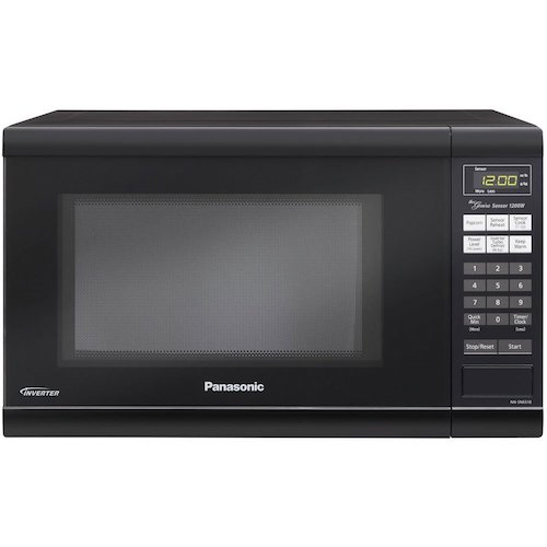 9. Panasonic NN-SN651B Black 1.2 Cu. Ft Countertop Microwave Oven with Inverter Technology