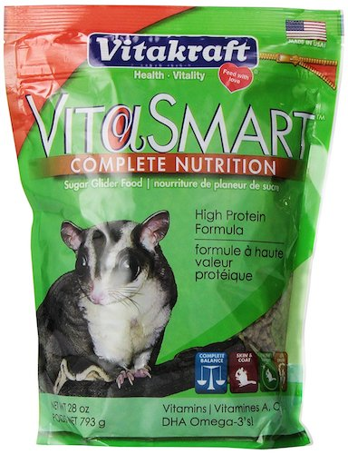 1. Vitakraft VitaSmart Sugar Glider Food - High Protein Formula, 28 Ounce