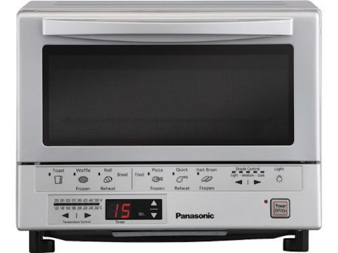 4. Panasonic NB-G110P Flash Xpress Toaster Oven, Silver