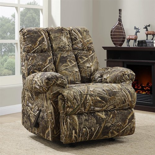 4. Dorel Living Real Tree Camouflaged Rocker Recliner
