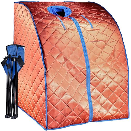6. DURHERM Xlarge EMF Free Negative Ion Fir Infrared Portable Indoor Sauna