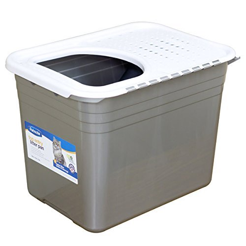 6. Petmate Top Entry Litter Pan