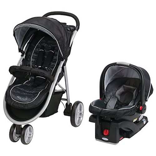 6. Graco Aire Click Connect Travel System,Gotham
