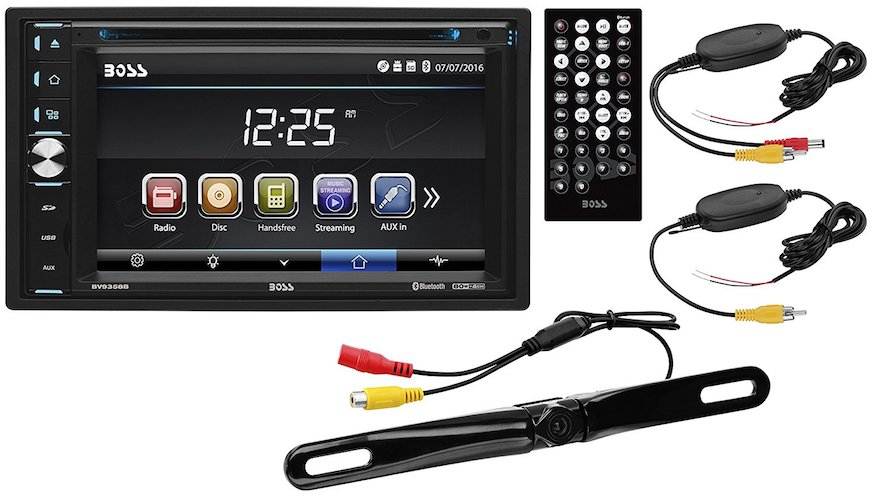 6. Boss Audio Systems B9358WRC Double Din, Digital Touch screen Monitor, In-Dash Video & Multimedia Unit