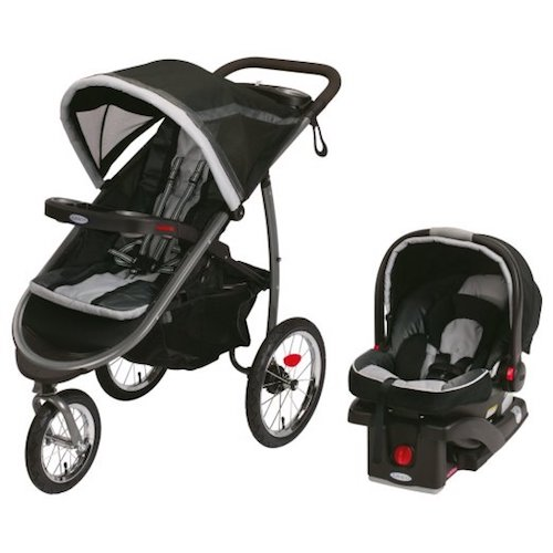 7. Graco Fastaction Fold Jogger Click Connect Baby Travel System ,Gotham 2015