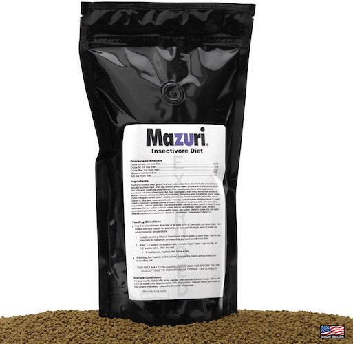 2. Mazuri Insectivore Diet, Designed For A Range Of Insect-Eating Mammals, Birds, Reptiles And Amphibians (Shrews, Hedgehogs, Sugar Gliders, Anteaters, Swifts, Swallows, Bearded Dragons & More, 20oz(0.5kg)