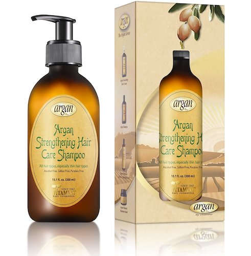 3. Hair Strengthening Argan Shampoo - Exclusive Herbal Oils Blend - Daily Moroccan Sulfate & Paraben Free Shampoo 10.1 oz to Strengthen & Promote Healthy Growth