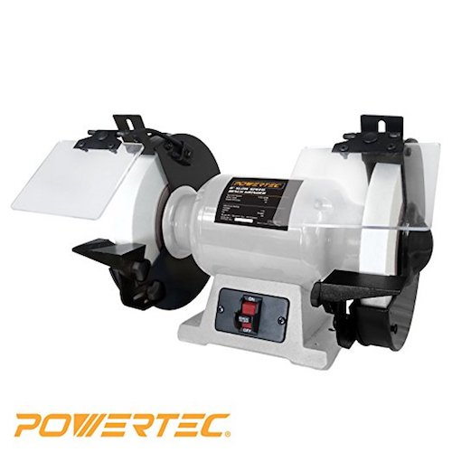 8. POWERTEC BGSS801 Slow Speed Bench Grinder, 8