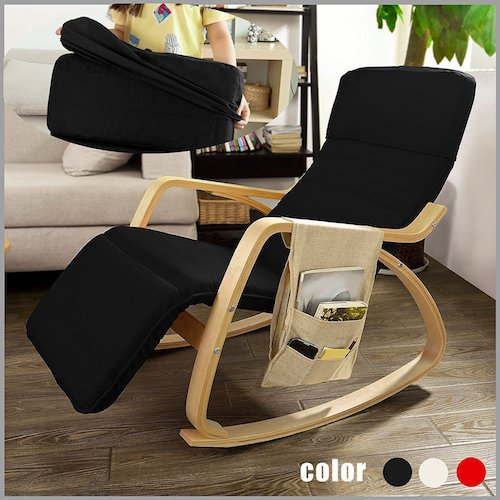 SoBuy Comfortable Relax Rocking Chair with Foot Rest Design Lounge Chair Recliners Poly-cotton Fabric Cushion FST16 (black) & Top 10 Best Recliner Chairs For Living Room in 2017 Reviews ... islam-shia.org