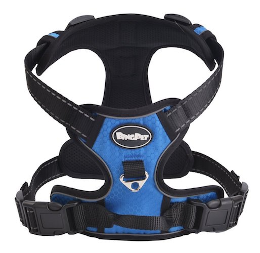 4. Best Front Range No-Pull Dog Harness. 3M Reflective Outdoor Adventure Pet Vest with Handle. 3 Stylish Colors and 5 Sizes