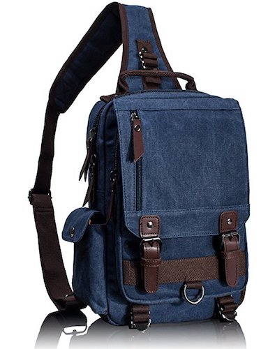 Best Men's Messenger Bags: 6. Leaper Cross Body Messenger Bag Shoulder Backpack Travel Rucksack Sling Bag