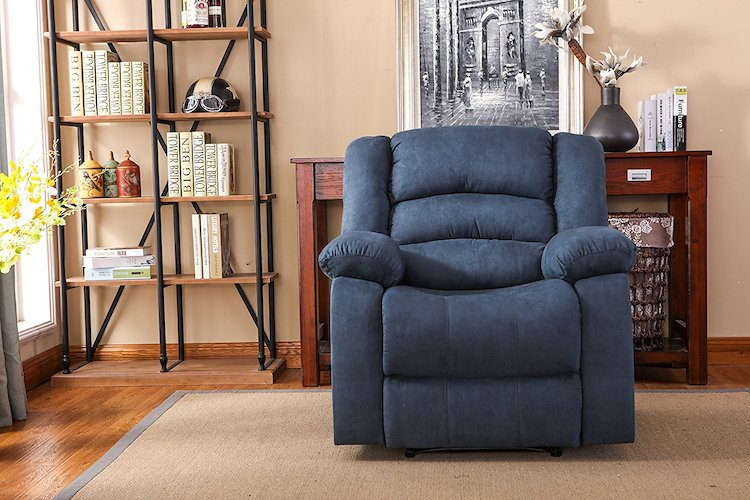 3. NHI Express Addison Large Contemporary Mocha Microfiber Recliner
