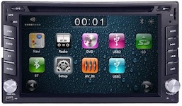 2. HIZPO 6.2 Inch Universal Double 2 Din In Dash Car CD DVD Player GPS Stereo Radio BT USB IPOD RDS 3G + FREE MAP CARD + Reverse Camera
