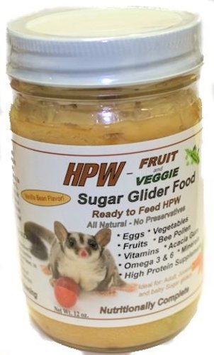 8. Sugar Glider HPW Diet with Fruit & Veggie 12 oz. Jar