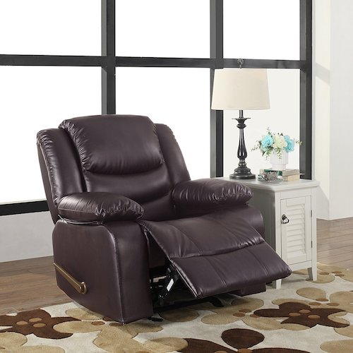 Bonded Leather Recliner Living Room Rocker Chair  sc 1 st  TopBestSpec & Top 10 Best Recliner Chairs For Living Room in 2017 Reviews ... islam-shia.org