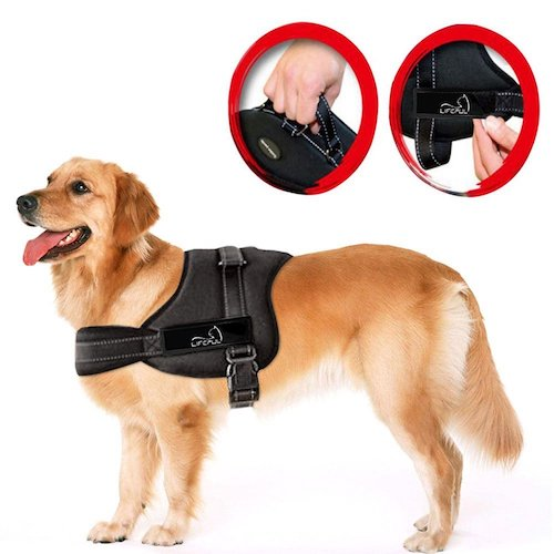 3. Lifepul(TM) No Pull Dog Vest Harness - Dog Body Padded Vest - Comfort Control for Large Dogs in Training Walking - No More Pulling, Tugging or Choking