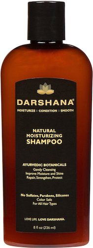 8. Darshana Natural Moisturizing Shampoo with Ayurvedic Botanicals - Color Safe, No Sulfates, Silicones, Silicones, Parabens - Improve Moisture and Shine, pH Balanced (8 fl oz.)