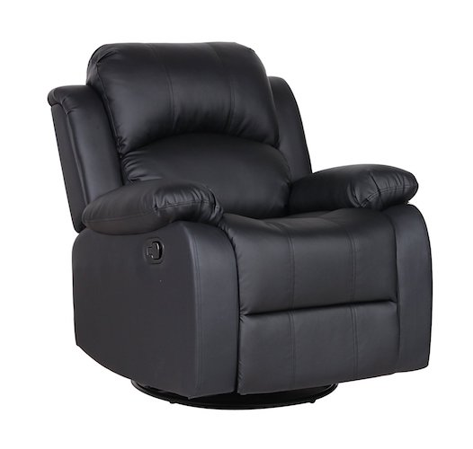 Bonded Leather Rocker and Swivel Recliner Living Room Chair (Black)  sc 1 st  TopBestSpec & Top 10 Best Recliner Chairs For Living Room in 2017 Reviews ... islam-shia.org