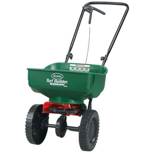1. Scotts Turf Builder EdgeGuard Mini Broadcast Spreader