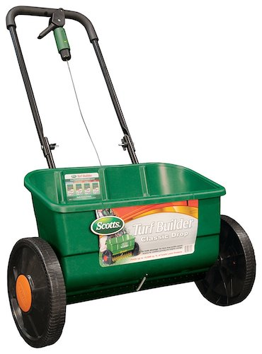 2. Scotts Turf Builder Classic Drop Spreader, (Up to 10,000-sq ft)