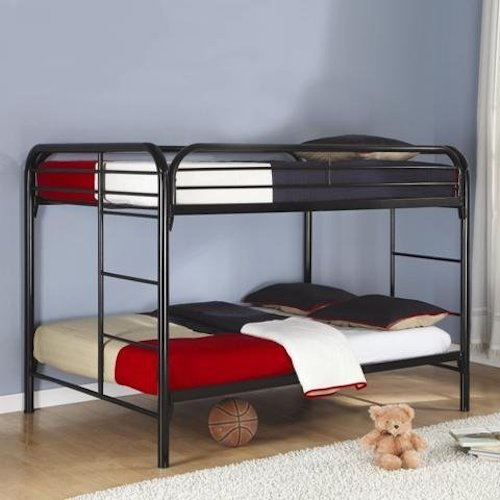 5. Coaster Fine Furniture 460056k Full Over Full Bunk Bed, Metal Black