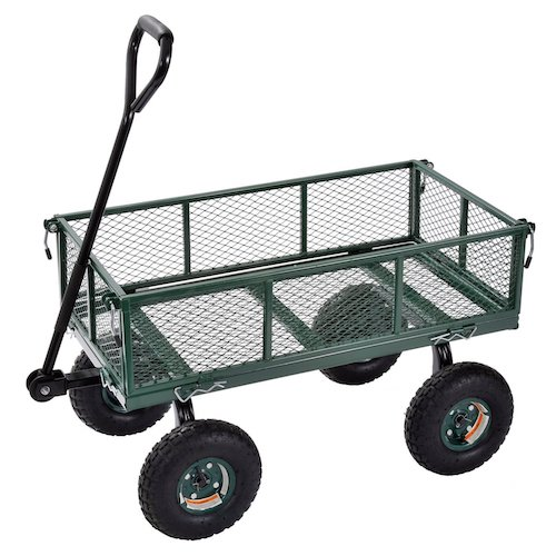 10. Sandusky Lee CW3418 Muscle Carts Steel Utility Garden Wagon, 400 lb. Load Capacity, 21-3/4
