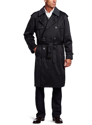 Top 10 Best Men's black Trench Coats: 3. Hart Schaffner Marx men's burnett trench coat