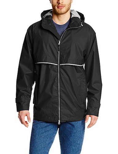 Top 10 Best Men's black Trench Coats: 10. Charles River Aparell men's New Englander Waterproof Rain Jacket