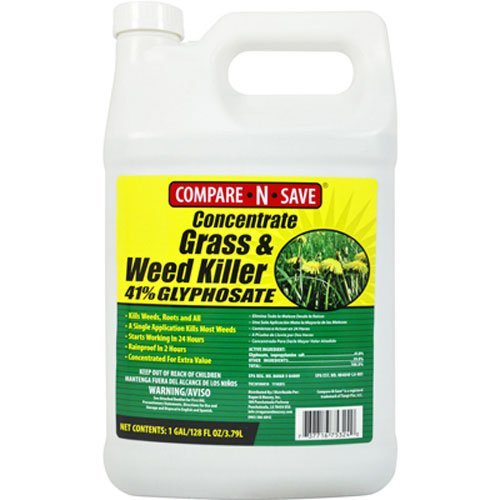 1. Compare-N-Save Concentrate Grass and Weed Killer, 41-Percent Glyphosate, 1-Gallon