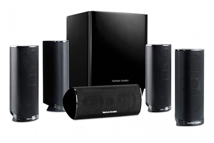 8. Harman Kardon HKTS 16BQ 5.1 Channel Home Theater Speaker Package (Black)