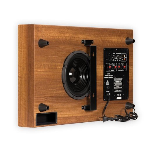 5. Theater Solutions SUB8SM Slim Subwoofer (Mahogany)