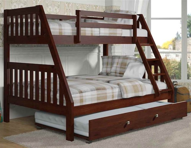4. 44 in. Twin Over Full Bunk Bed
